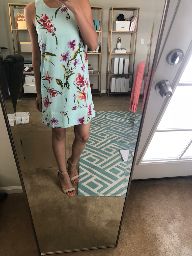 Leith floral dress nordstrom half yearly sale