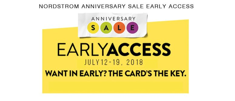 Nordstrom Anniversary Sale 2018 early access dates