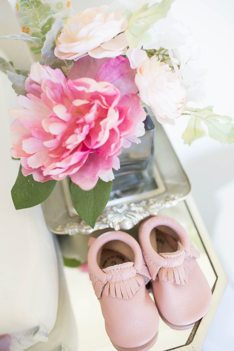 organize diaper station essentials for a small space cute tray and flowers