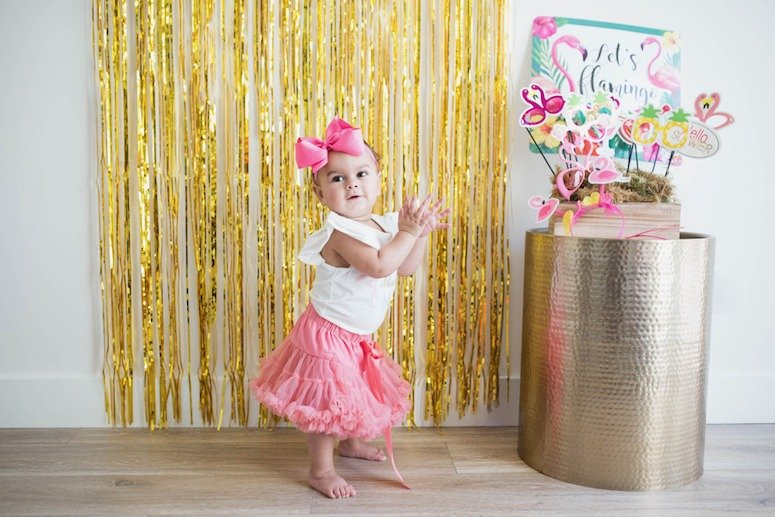 flamingo first birthday party outfit