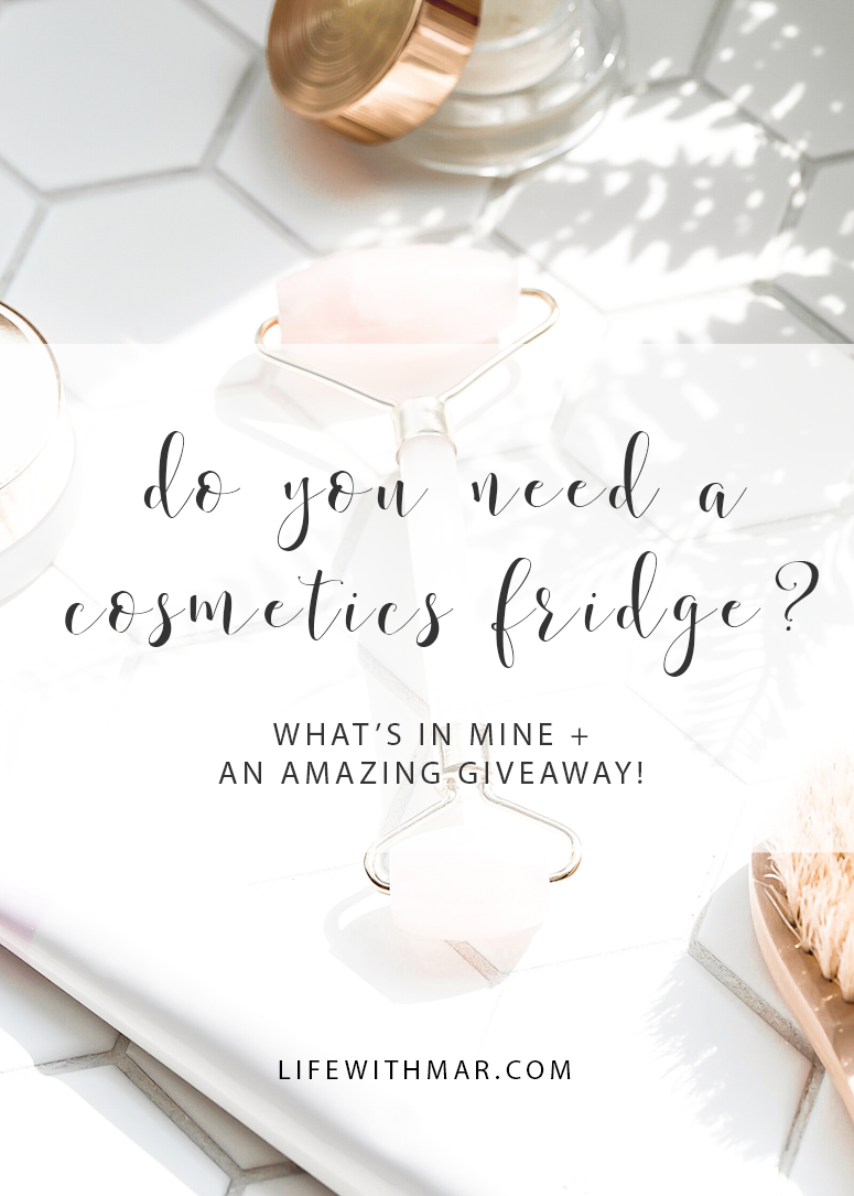 do you need a makeup fridge? Here's what's in my cosmetics fridge and why you may want one too!
