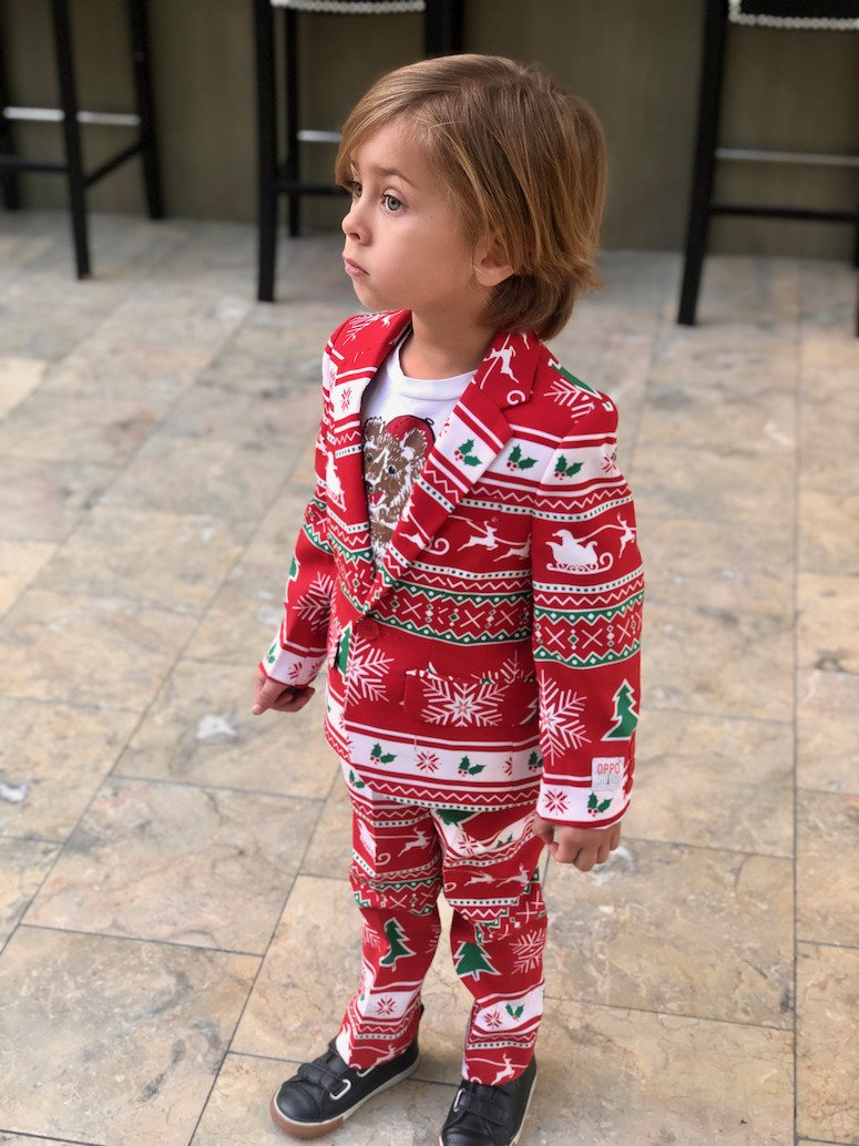 Toddler Christmas suit- shinesty