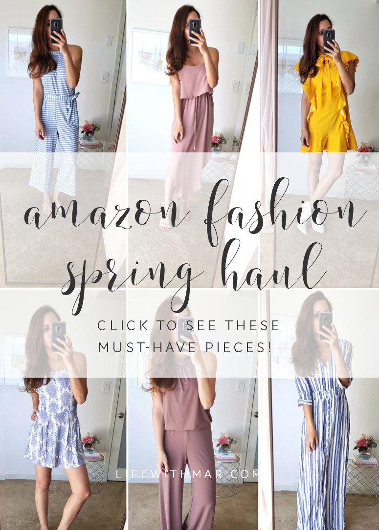 amazon fashion spring haul 2019 try on session